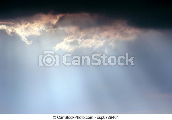 Sun beams in heaven - csp0729404