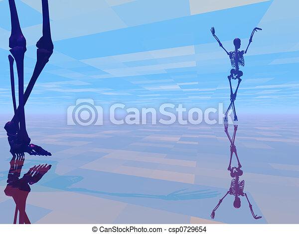 dancing skeleton - csp0729654