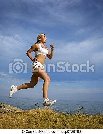 female runner - csp0729783