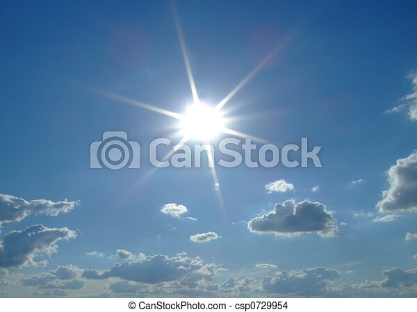 sky background. sky, sun and clouds background. - csp0729954
