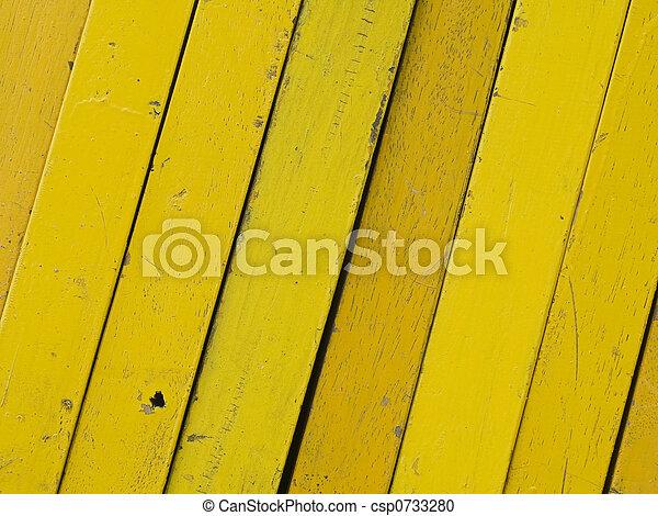 Diagonal, yellow planks - csp0733280