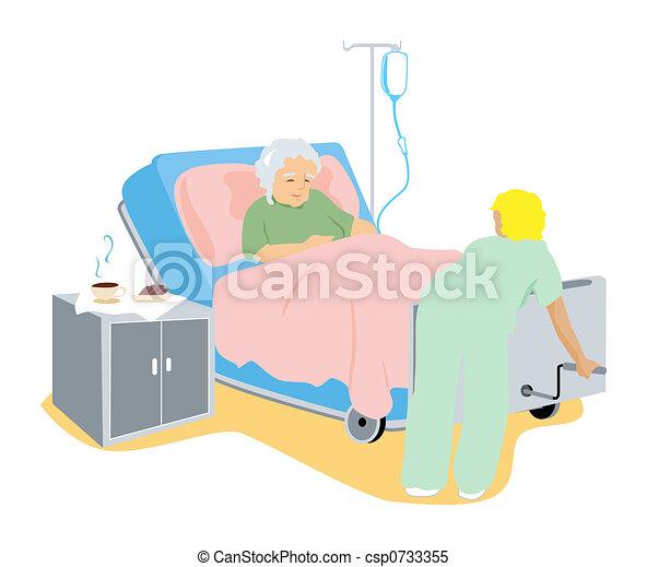 Sick Elderly Client - csp0733355