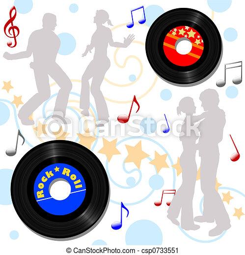 Retro 45 RPM Disco Record Hop - csp0733551