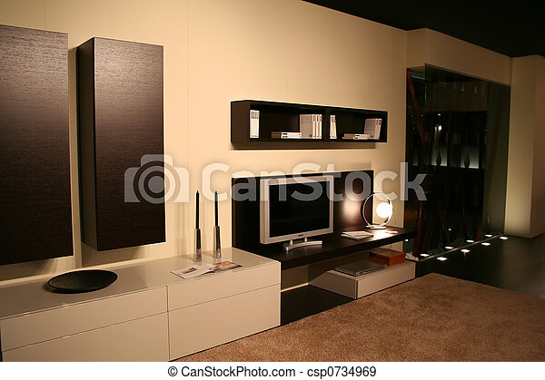 stock fotografien von lebensunterhalt zimmer dekorieren ideen 5 stern csp0734969. Black Bedroom Furniture Sets. Home Design Ideas