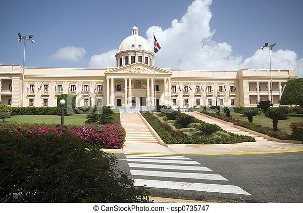 palacio nacional the national palace santo domingo dominican republic beautiful government building - csp0735747