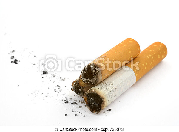 three cigarettes butts - csp0735873