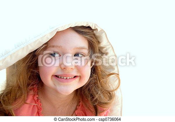 我, 间谍 很少, 女孩, 偷看, 在外, 毛毯csp0736064