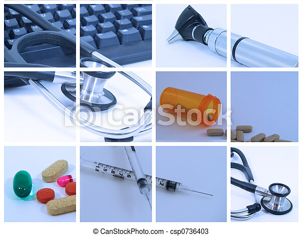 colagem, médico - csp0736403