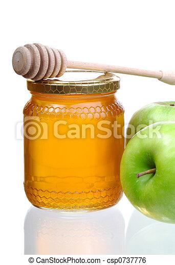 miel, manzanas - csp0737776