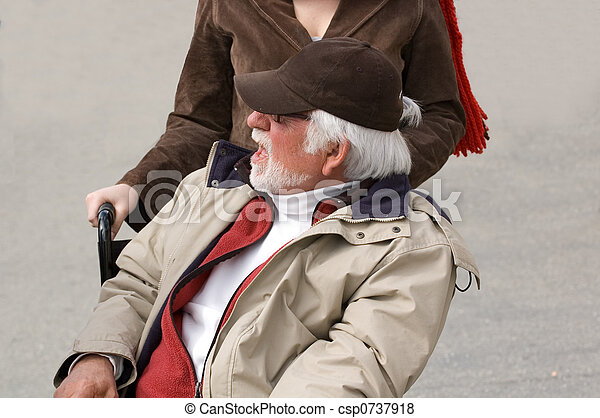 old man in wheel chair - csp0737918