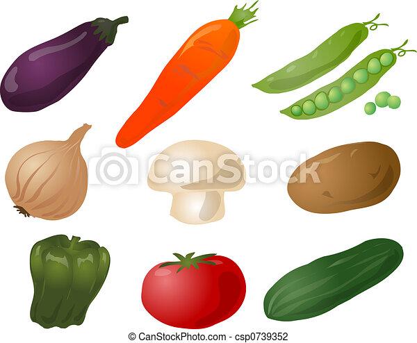 Vegetables illustration - csp0739352