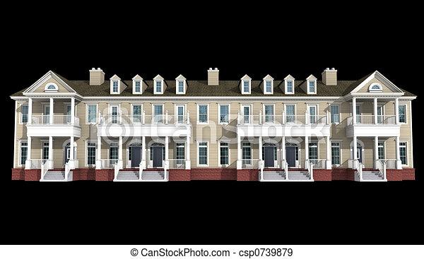 3d model of condominium - csp0739879