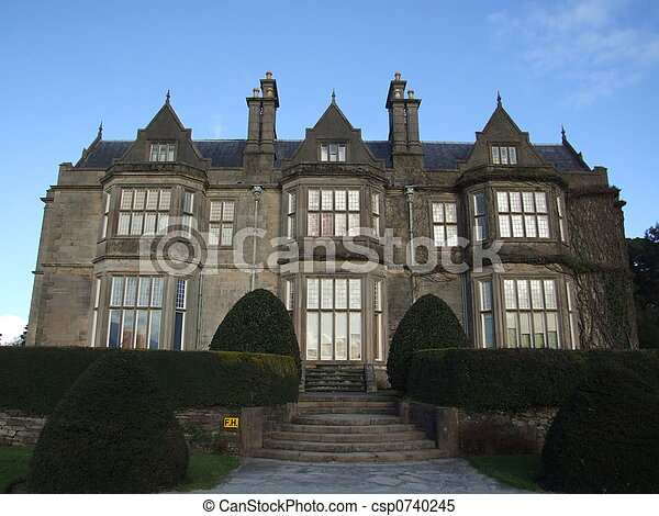 Stock Images of Old mansion - Big english landlords mansion in west of ...