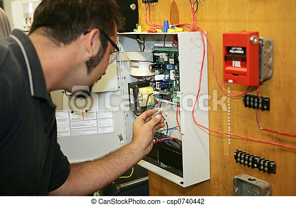 Working on Fire Alarm - csp0740442