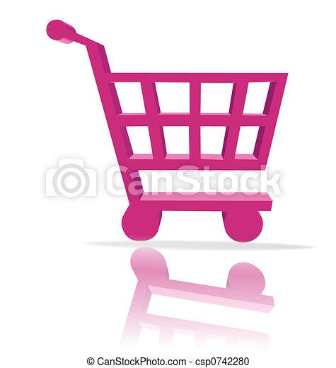 shopping cart button - csp0742280