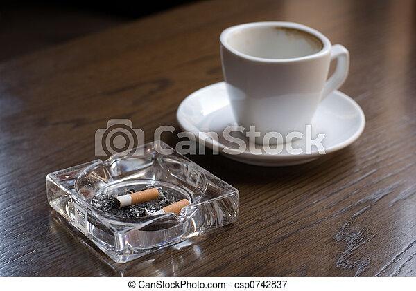 Nicotine and caffeine. - csp0742837
