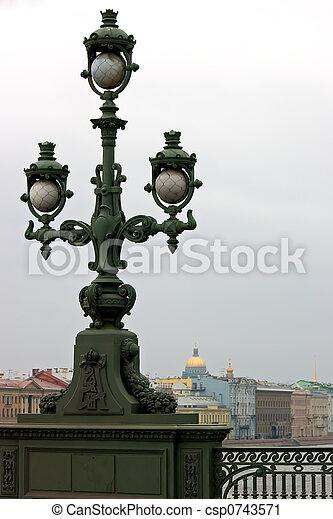 Lantern on the bridge - csp0743571