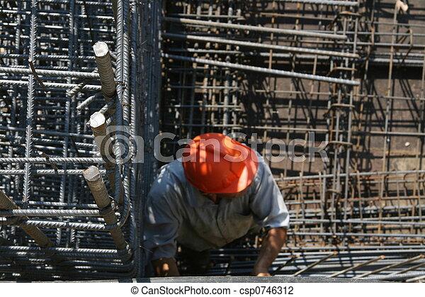 worker in construction - csp0746312