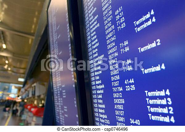 departures board - csp0746496
