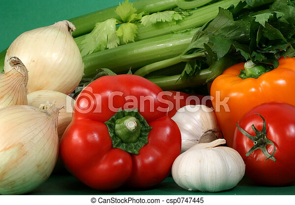 some fresh vegetables - csp0747445