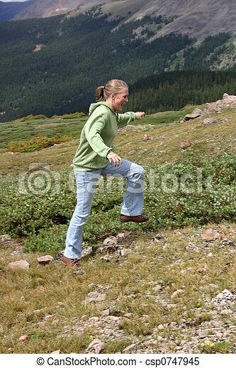 Mountain Girl - csp0747945