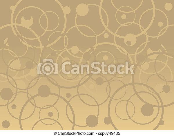 Tan Circles - csp0749435