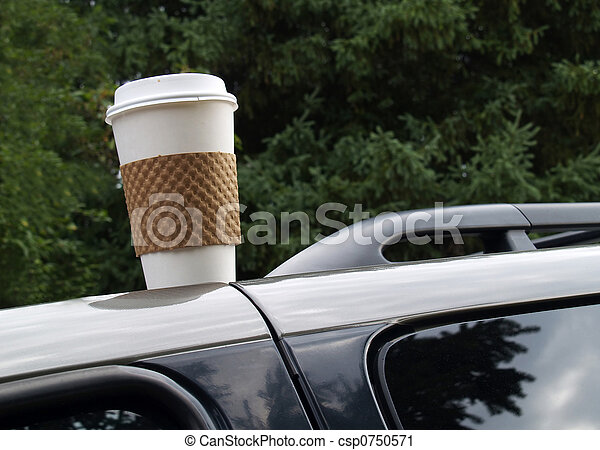 forgotten coffee cup - csp0750571