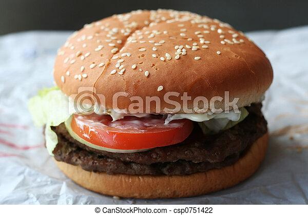 Fastfood hamburger - csp0751422