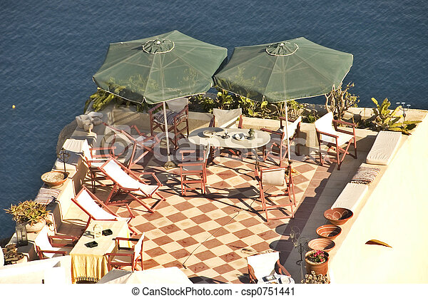 Patio and parasols - csp0751441