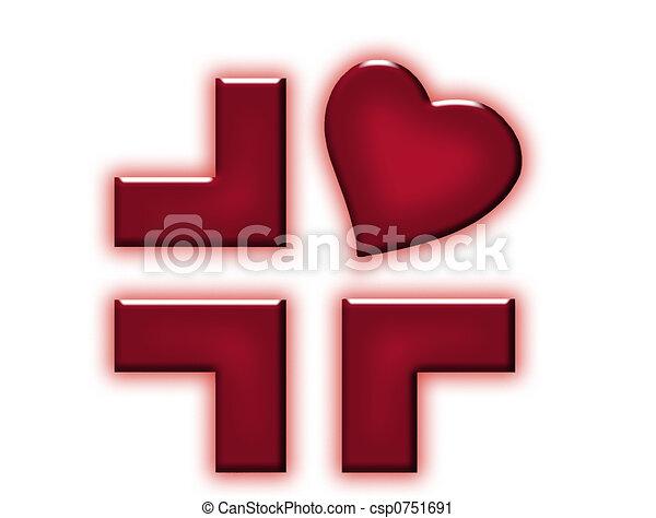 Precious red cross 2 - csp0751691
