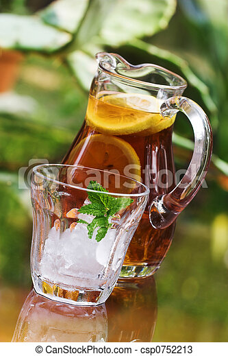 iced tea in pitcher - csp0752213