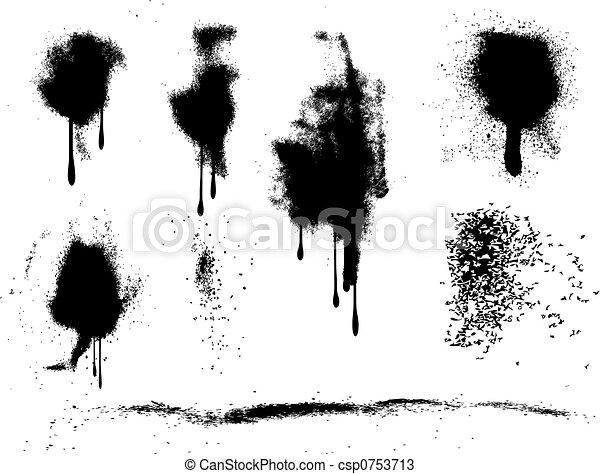 grunge spray paint splats - csp0753713