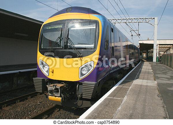 modern diesel train - csp0754890