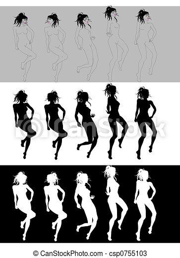 Dancing Girl Sequence - csp0755103