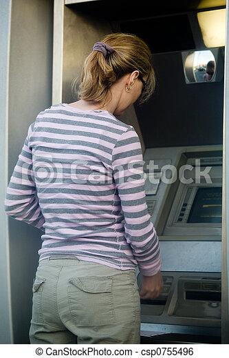 Woman banking - csp0755496