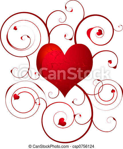 Cute Hearts To Draw For Your Boyfriend floral, Amor, Cora&#23...
