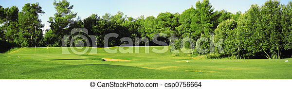 Golf field panorama - csp0756664