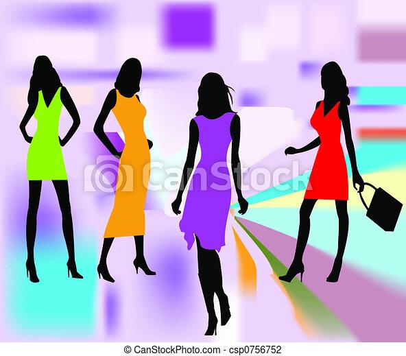 Fashion girls vector - csp0756752