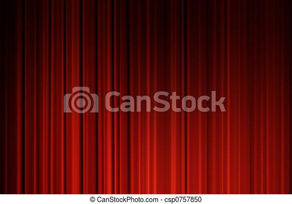 Movie curtains - csp0757850