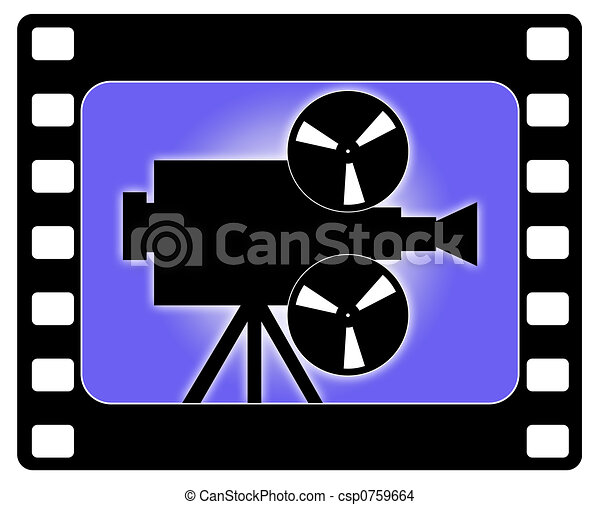 Cinema and camera working - csp0759664