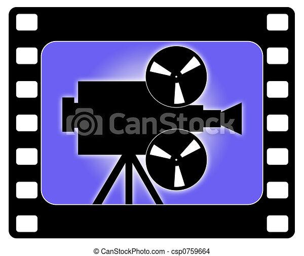 Cinema and camera working - csp0759664