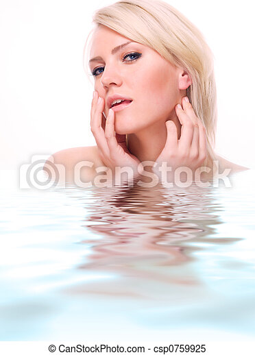 lovely blonde, spa theme - csp0759925