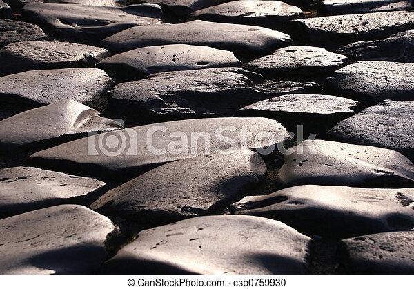 cobblestone road - csp0759930