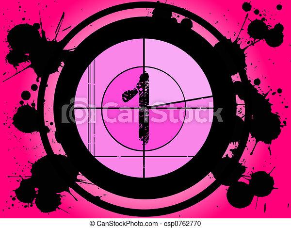 Pink Film Countdown - At 1 - csp0762770