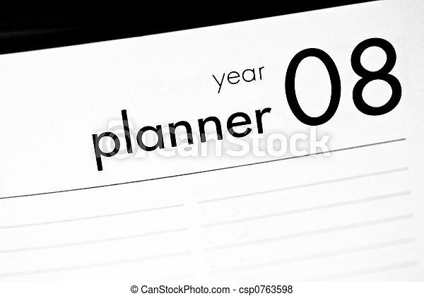 Year planner 2008 - csp0763598