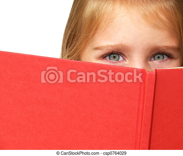 child reading a book - csp0764029