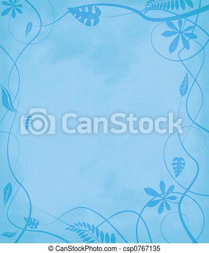 floral mottled paper blue - csp0767135