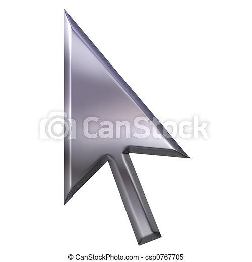 3D Silver Pointer - csp0767705