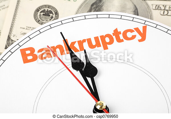 concept of bankruptcy - csp0769950