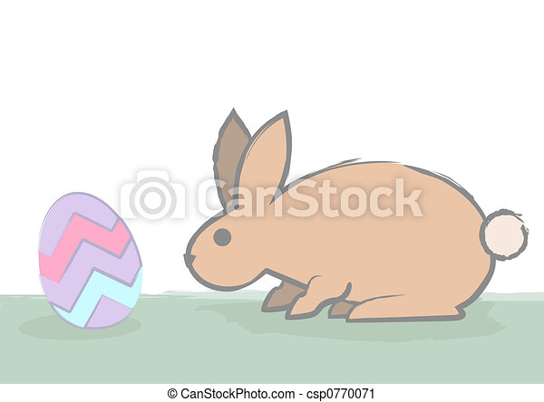 Cautious Bunny Sniffs The - csp0770071